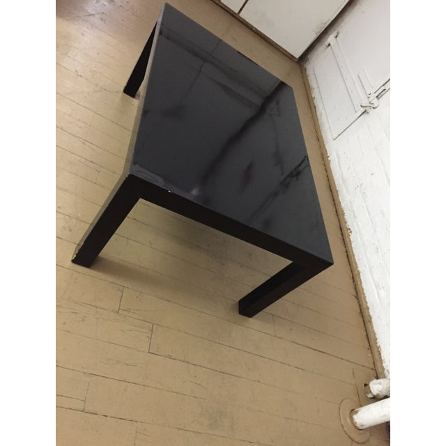 Contemporary Vintage 1970's Black Lacquer Occasional Tables - Set of 3 For Sale - Image 3 of 12