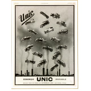 """Consigned """"Unic Vehicles"""" Lithograoh, 1928 For Sale"""