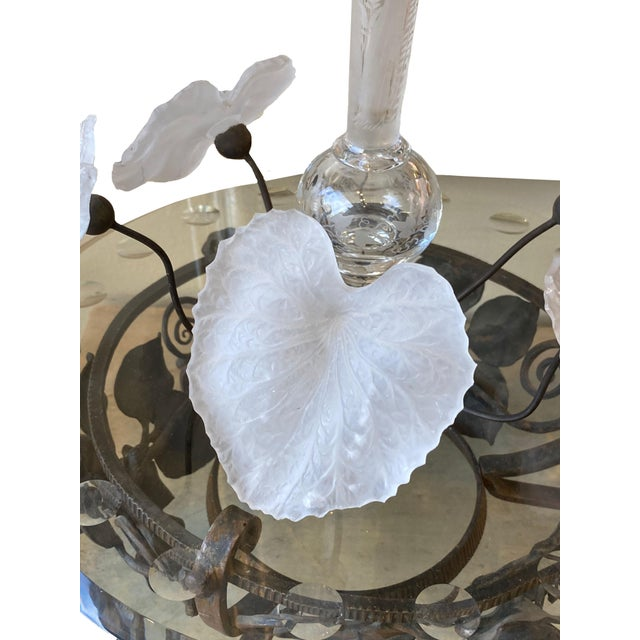 French 19th Century French Crystal and Iron Epergne For Sale - Image 3 of 4