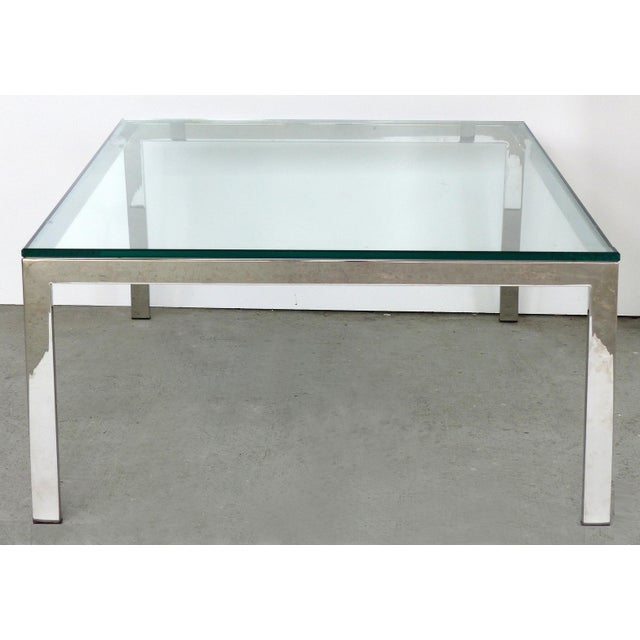 Contemporary Italian Stainless Steel & Glass Cube Coffee Tables, Two Available For Sale - Image 9 of 9