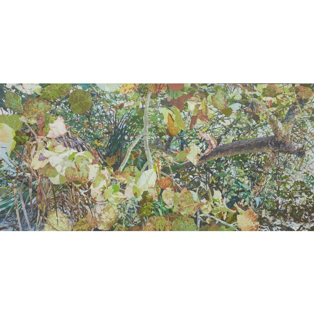 """Wood Marsh Large Contemporary Landscape """"Sea Grapes 3"""" For Sale - Image 7 of 7"""