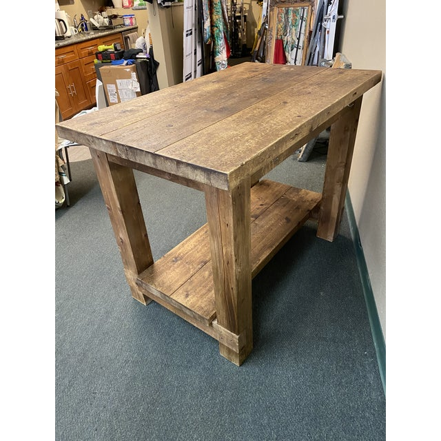 Restoration Hardware Restoration Hardware Salvaged Wood Island For Sale - Image 4 of 13