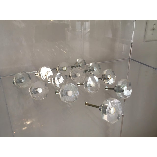 Vintage Lucite Hexagonal Knobs - Group of 13 For Sale In West Palm - Image 6 of 13