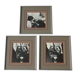 Vintage Industrial Eye Exam Photographs - Set of 3 For Sale