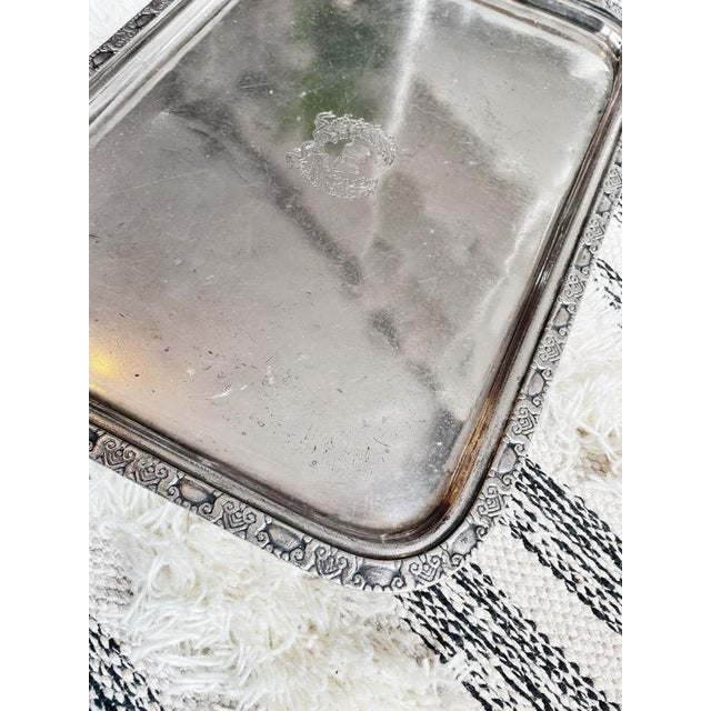 Art Deco 1951 Silver Serving Tray From the Waldorf-Astoria Hotel For Sale - Image 3 of 7