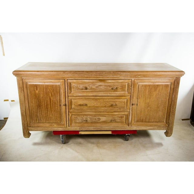 Custom Solid Teak Modern Long Dresser - Image 3 of 11