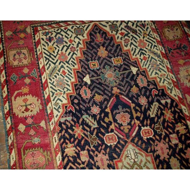 1880s Antique Hand Made Caucasian Karabagh Rug- 4′6″ × 11′7″ For Sale - Image 10 of 10