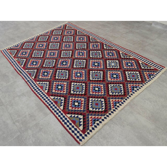 Turkish Kilim Hand-Woven Rug - 4′9″ × 8′2″ - Image 2 of 9
