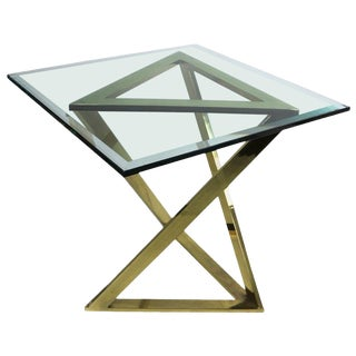Triangle Base Table Attributed to Milo Baughman For Sale