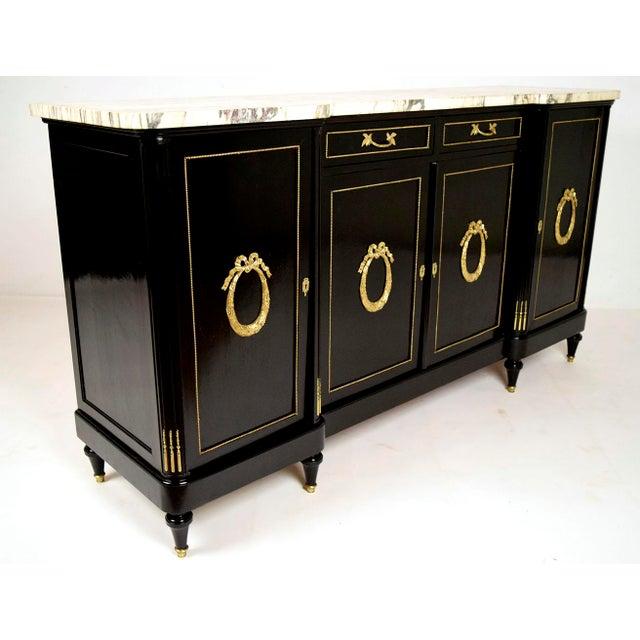 Antique French Louis XVI-Style Ebonized Buffet - Image 4 of 11