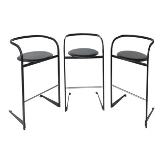 Toshiyuki Kita / ICF by Atelier Postmodern Barstools - Set of 3 For Sale
