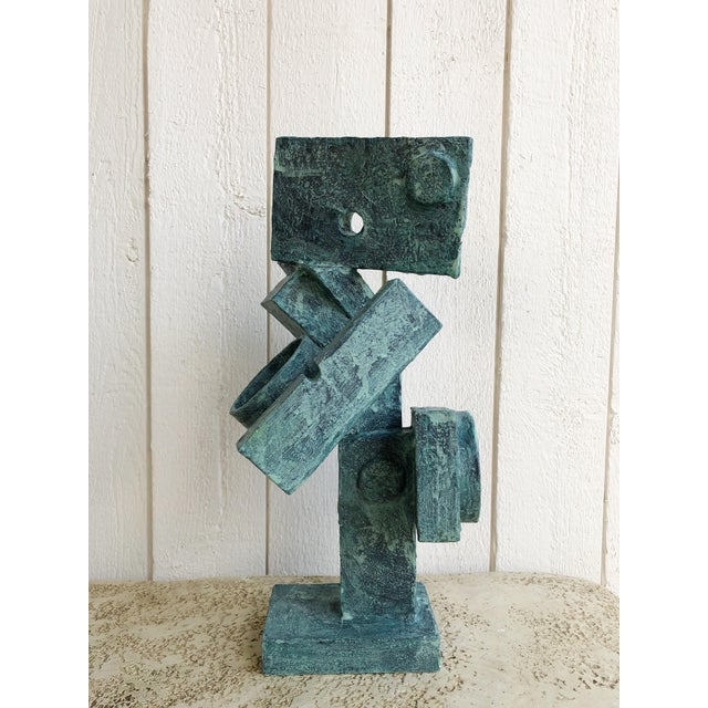 """Abstract Abstract Cubist Sculpture """"Dancer"""" by Bill Low For Sale - Image 3 of 13"""