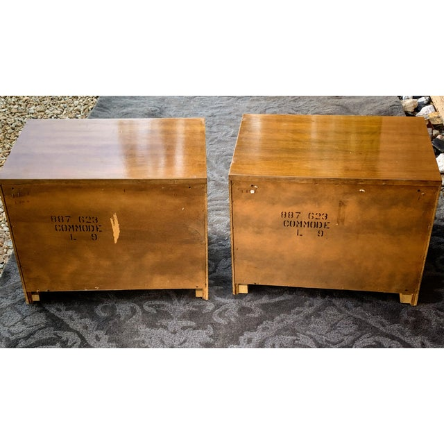 1960s Vintage Faux Bamboo Nightstands- A Pair For Sale - Image 4 of 6