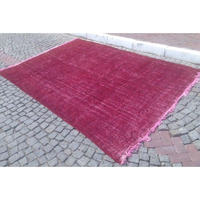 Apadana Purple Overdyed Rug - 7′1″ × 10′4″ For Sale - Image 4 of 6