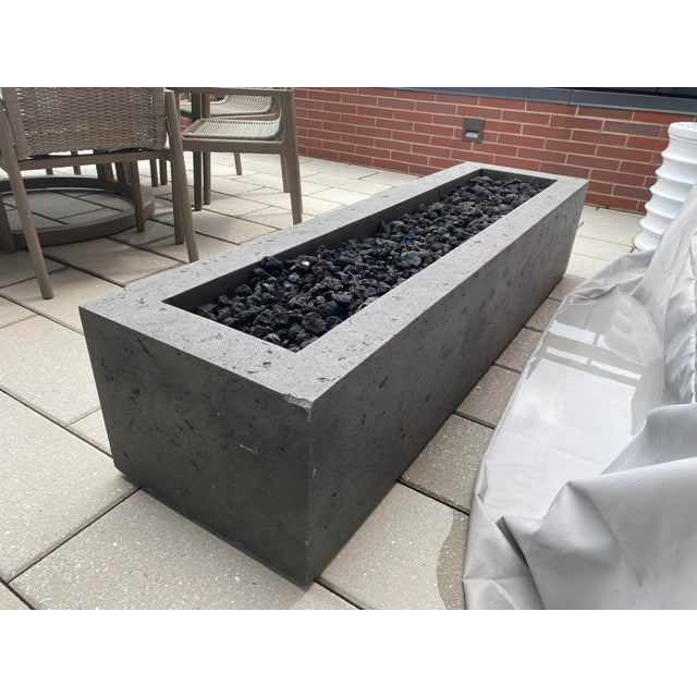 Toluca Linear Fire Table For Sale - Image 9 of 10