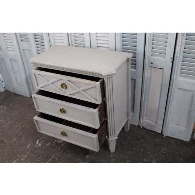 Gold 20th Century Swedish Gustavian Style Nightstands - A Pair For Sale - Image 8 of 11