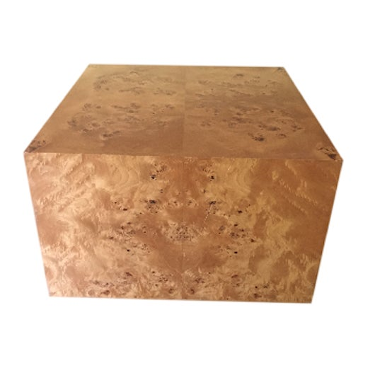 Burl Cube Coffee Table - Image 2 of 9