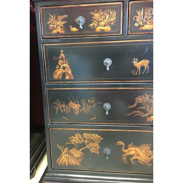 Dennis & Leen Dennis and Leen Chinoiserie Lacquer Dresser Chest of Drawers For Sale - Image 4 of 13