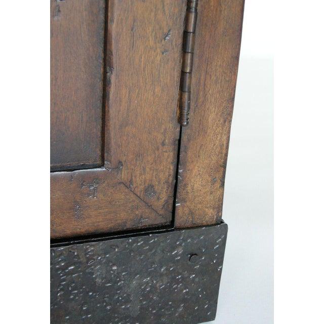 Walnut Custom Walnut Wood Media Console on Iron Base For Sale - Image 7 of 9