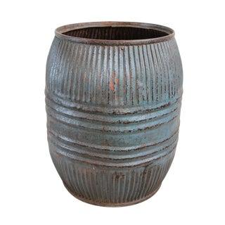 Vintage Iron Grain Barrel For Sale