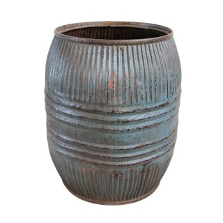 Vintage Iron Grain Barrel