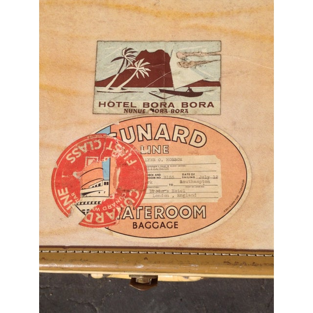Traditional Vintage Vellum Parchment Luggage by Hartman For Sale - Image 3 of 7