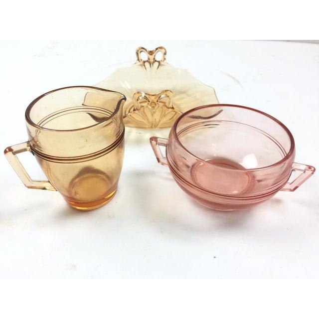 Transitional Vintage Depression Glass Coffee Set For Sale - Image 3 of 4