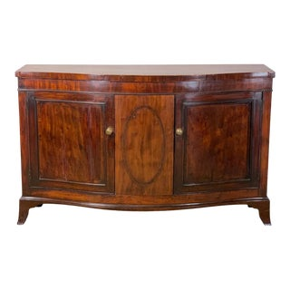 George III Mahogany Side Cabinet or Credenza For Sale