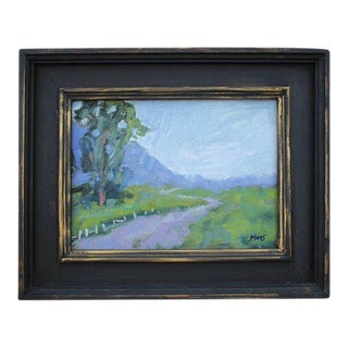 """Fence in the Road"" Oil Landscape Painting For Sale"