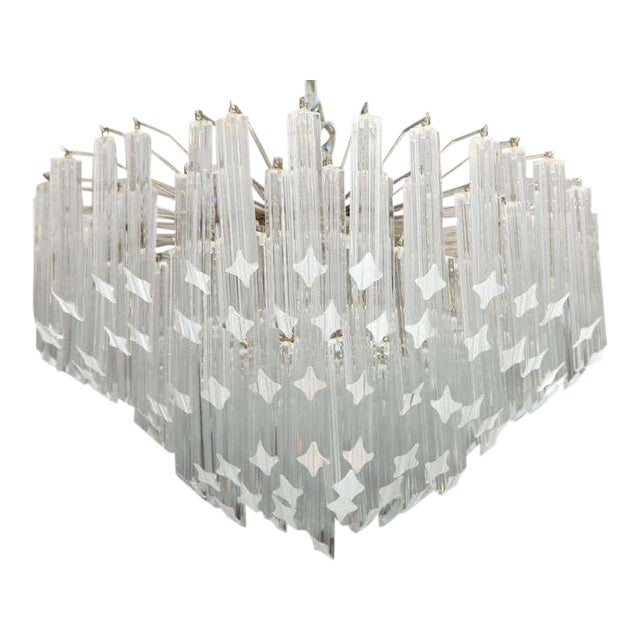 Seven-Tier Venini Chandelier For Sale