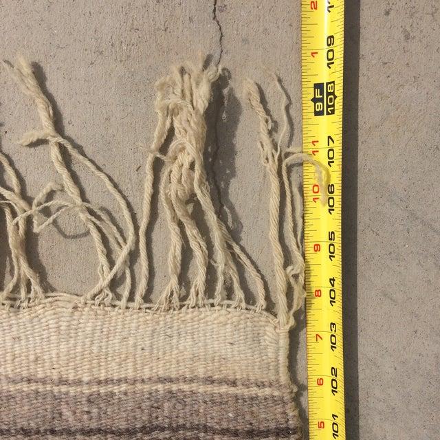 """Vintage Navajo Style Blanket Rug - 4'9"""" X 9"""" - Image 10 of 10"""
