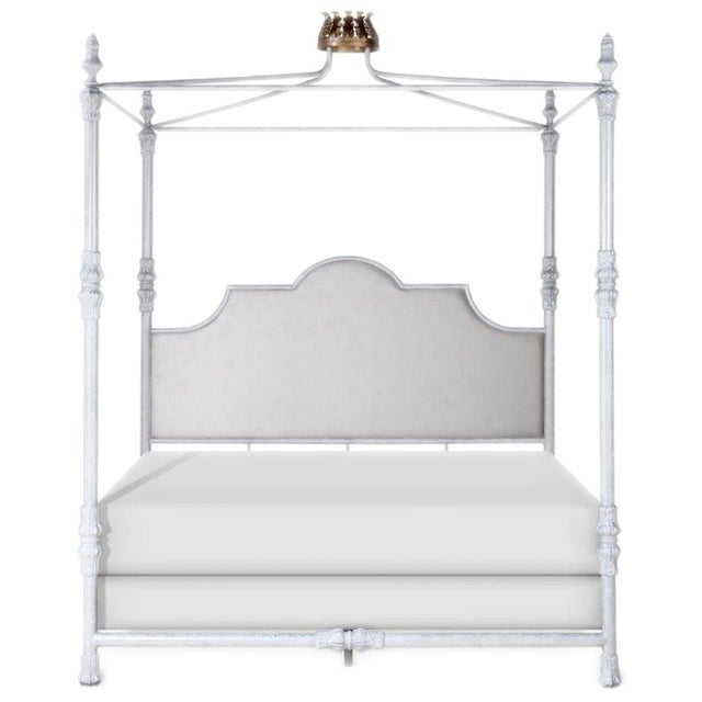 Swede Collection King Metal Bed With Crown Canopy For Sale - Image 6 of 6