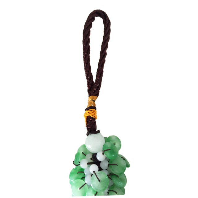 Superb Asian Charm ornament made of jade spheres can be hanged or you can wear attract charisma ,magnestism, and good luck
