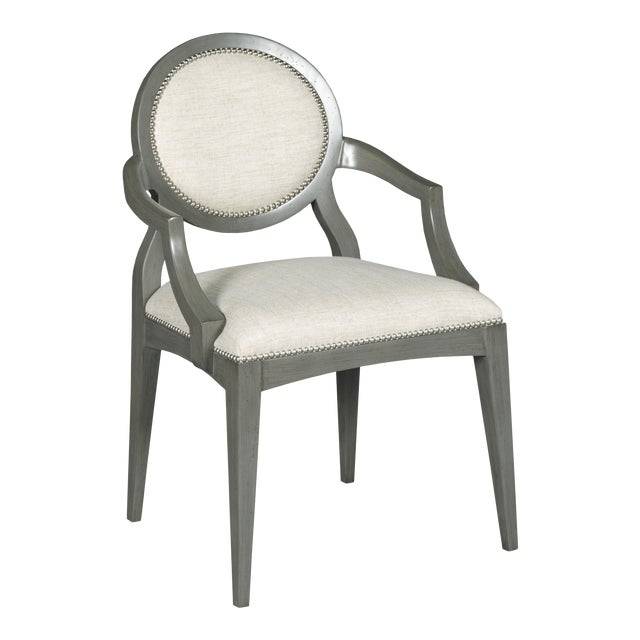 Modern Ventura Oval Arm Chair For Sale
