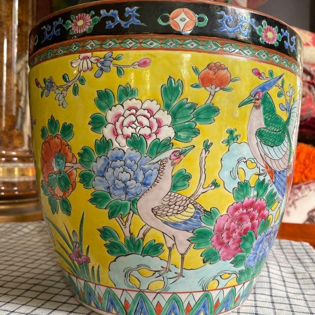 Japanese Circa 1900 Japanese Nippon Fish Bowl Planter For Sale - Image 3 of 7