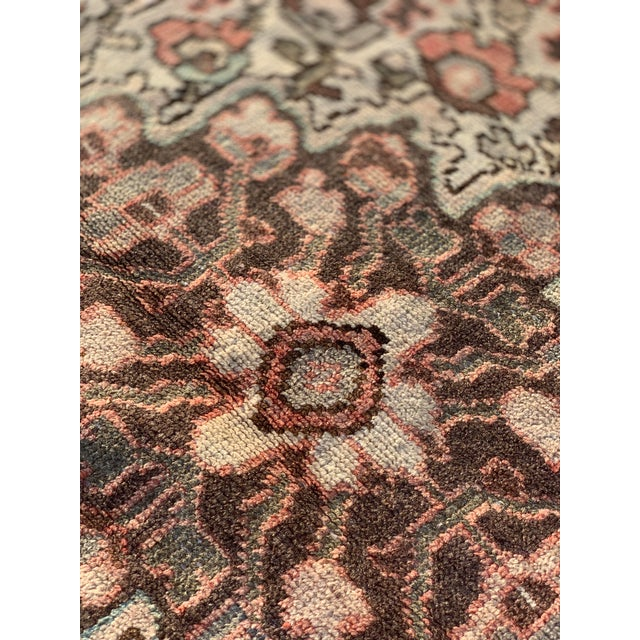 1960s Vintage Persian Hamadan Rug - 4′5″ × 6′6″ For Sale - Image 12 of 13