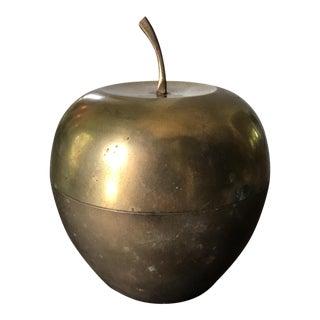 Vintage Solid Brass Apple Jar