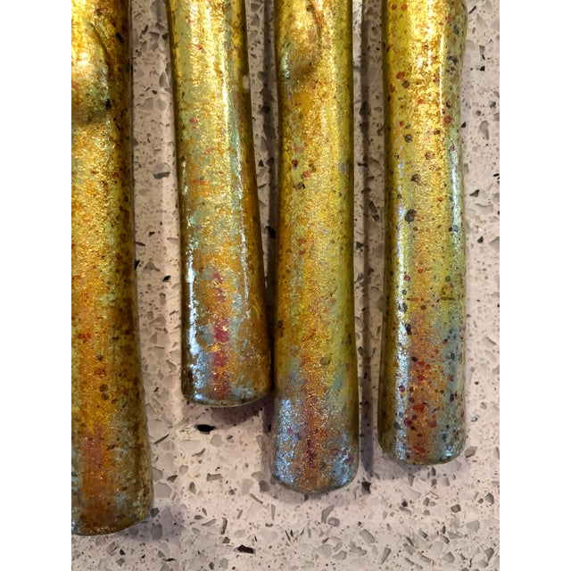 Ceramic or plaster Asparagus. These look to be foiled and hand-painted for authentic look. Metallic finish adds a nice...