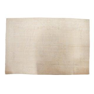 "Vintage Distressed Oushak Carpet - 8'9"" X 12'11"" For Sale"