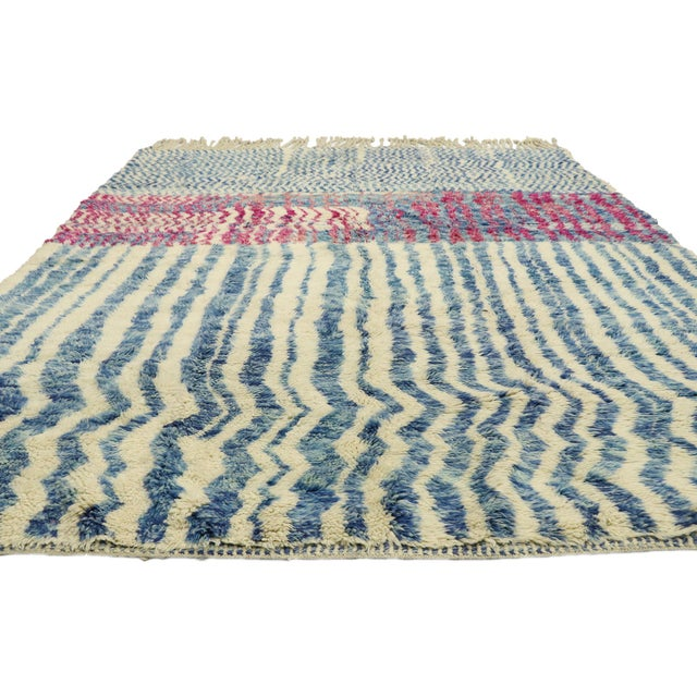 """Contemporary Contemporary Berber Moroccan Rug - 7'4"""" X 9'7"""" For Sale - Image 3 of 9"""