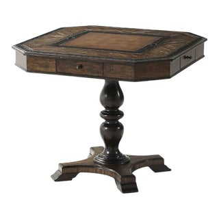 Dark Rustic Game Table For Sale