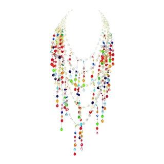 Giorgio Armani Runway Crystal Bib Necklace For Sale