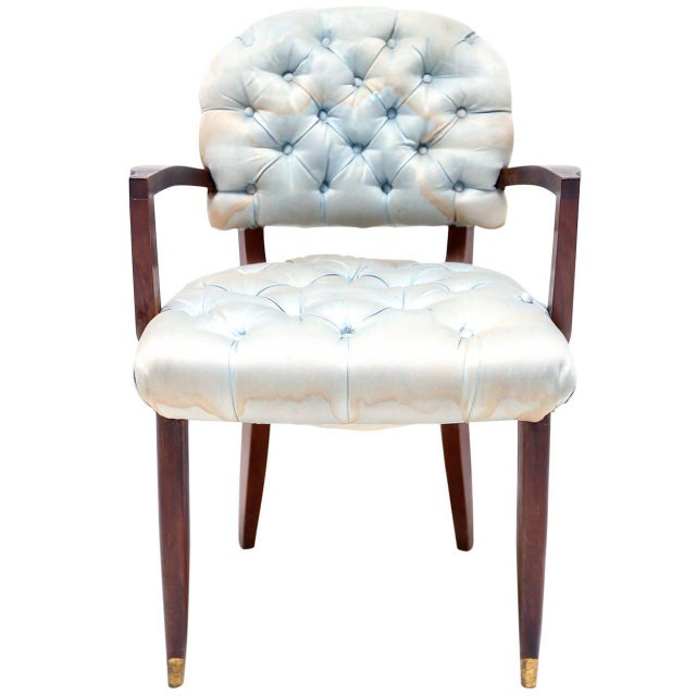 Mahogany Jules Leleu Armchair For Sale - Image 7 of 7