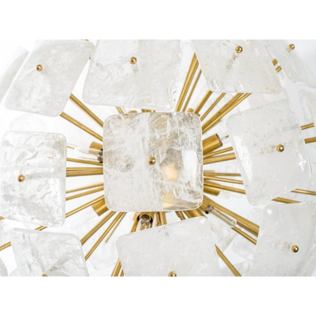 "Large Sputnik Rock Crystal Chandelier ""Nova"", Limited Edition For Sale - Image 4 of 10"