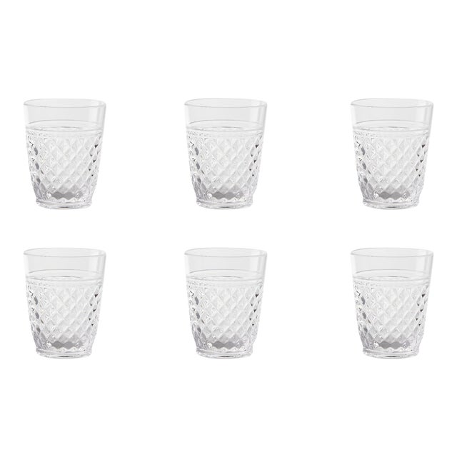 Kenneth Ludwig Chicago Villa Acrylic Double Old Fashion Glasses - Set of 6 For Sale