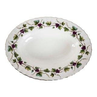 Royal Worcester Bacchanal Pattern Oval Serving Dish For Sale