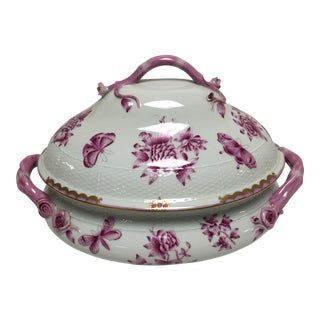 Vintage Herend Chines Bouquet Raspberry Tureen