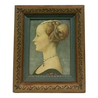 Antique Lady Mid Evil Era Framed Print