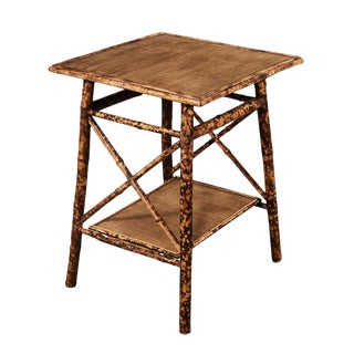 Tiger Bamboo Side Table For Sale