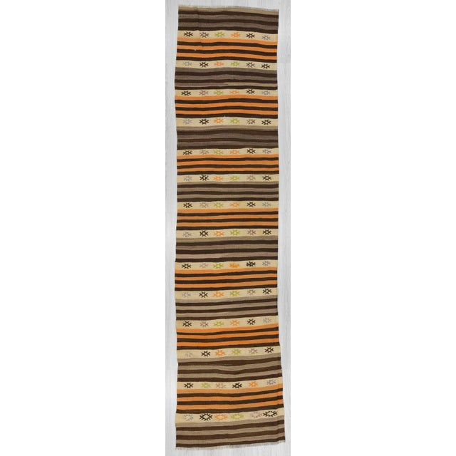Striped Vintage Kilim Runner - 2′8″ × 11′3″ For Sale In Los Angeles - Image 6 of 6